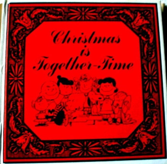 Christmas is Together Time - Schulz - 1964 1st Edition - HC/DJ