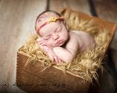 SALE - Leighton Heritage Camel - Soft, Cozy, Cuddly Faux Fur Nest - Perfect Newborn Photography Prop - Plush Long Pile, Stuffer, Filler