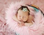 SALE - Soft Pink, Cozy, Cuddly Faux Fur Nest - Perfect Newborn Photography Prop - Plush Long Pile, Stuffer, Filler, Layering, Bean Bag Cover