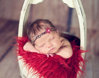 SALE Valentine Red Faux Fur Photography Prop Soft Cozy Cuddly Faux Fur Nesting Newborn Christmas Stuffer Filler Layering Faux Flokati Posing