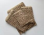 100 cheetah or leopard animal print paper bags 8.5 x 11 inch