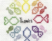 So Long and Thanks for all the Fish cross stitch pattern douglas adams hitchhikers guide to the galaxy