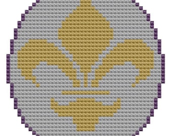 Fleur de Lis cross stitch pattern