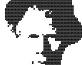 Tom Waites cross stitch pattern.