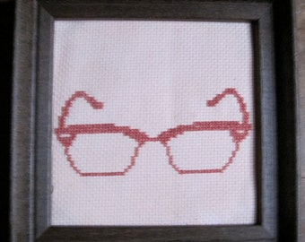 cross stitch pattern - hipster spectacles 5
