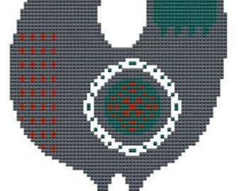 cross stitch pattern Scandinavian Bird modern and traditional folk art pdf hand embroidery