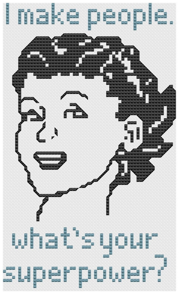 what's your superpower cross stitch pdf pattern