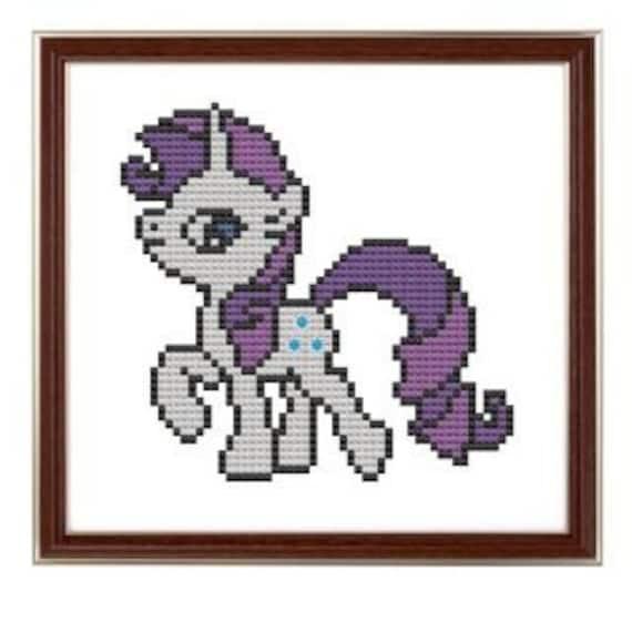cross stitch pattern My Little Pony Rarity inspired  .pdf