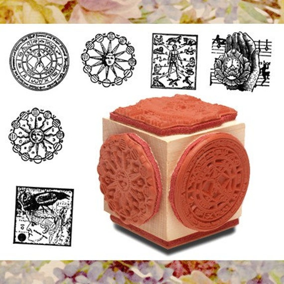 Alchemy Astrology Mounted Set of Stamp Set of Six