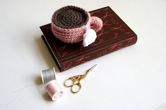 Crochet Teacup - Rose Pink