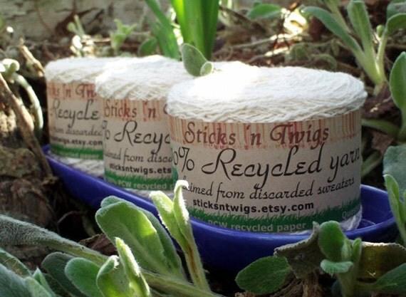 RECYCLED YARN - Cornsilk - cotton blend - laceweight