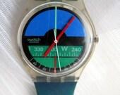 Vintage Nautilus Swatch Watch, by Mario Fani, free shipping