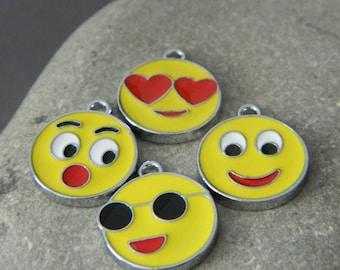 Enameled Emotion Charms