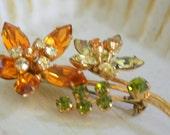 Austrian Crystal Flower Pin