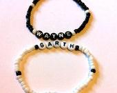 WAYNE & GARTH (Wayne's World)Beaded Friendship Bracelets