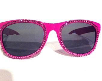 Pink Swarovski Non Prescription Sunglasses