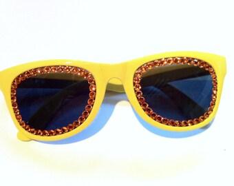 Orange & Yellow Swarovski Non Prescription Sunglasses