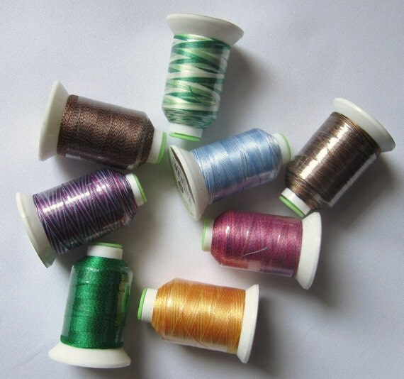 Brand new spools coats variegated polyester machine
