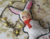 necklace vintage rabbit dolly kei lolita