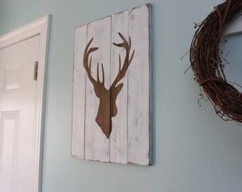 Planked Deer Silhouette
