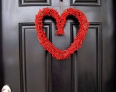 Be Mine - Heart Shaped Wreath with a Touch of Sparkle