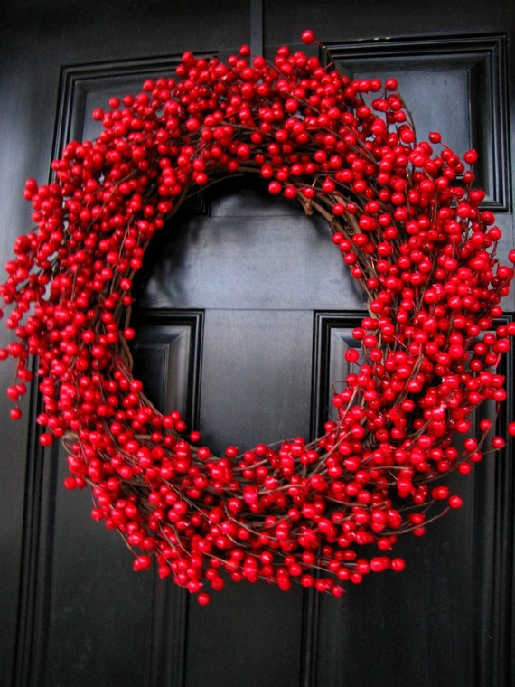 Christmas Wreath Decadent Extra Large Cranberry Wreath