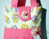 Girls Tote Bag Mini Tote Bag Small Bag Owl Meadley Ruffled
