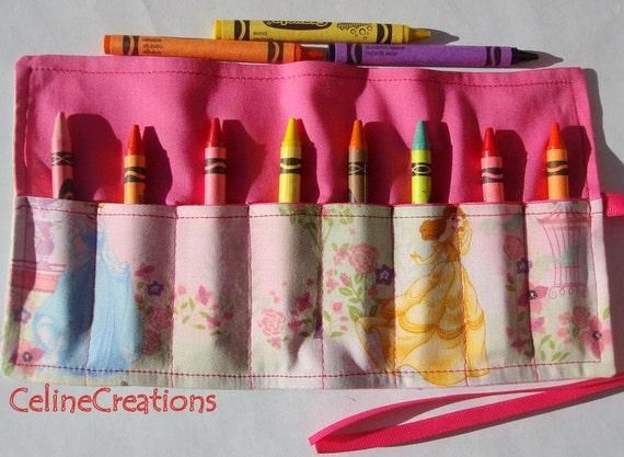 Crayon Roll Up Crayon Holder  Disney Princess - Holds 8 Crayons
