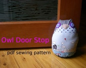 Owl Doorstop pdf sewing pattern