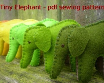 Tiny Elephant pdf sewing pattern