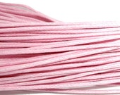 15 Feet Pink Waxed Cotton Cord for Jewelry Making Macrame and Hemp Style Jewelry.  Shipped from the USA.