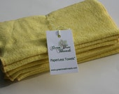 Organic Bamboo PaperLess Towels: Yellow (no snaps)