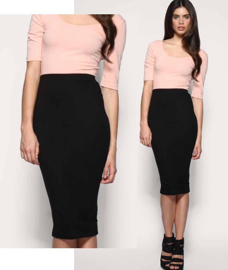black tight high waist pencil mini skirt s or m