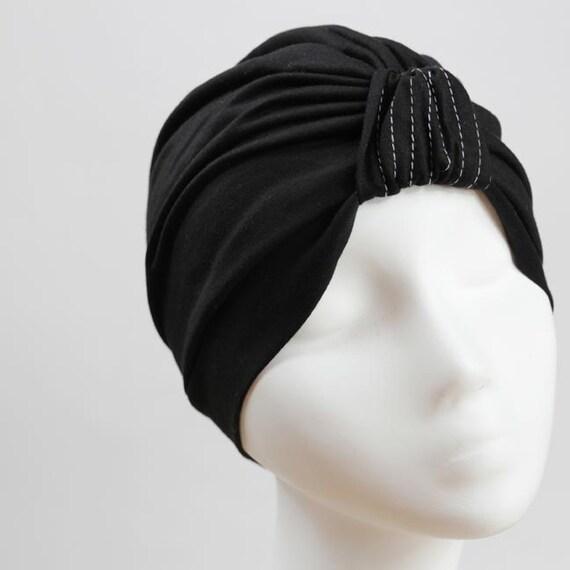Black Full Jersey Turban