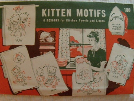 Embroidery Transfers Superior Kitten Motifs