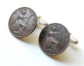 Steampunk Cufflinks Antique Coin Cufflinks Steampunk Coin Cufflinks 1912 Coins Steampunk Jewelry by pennyfarthingdesigns on Etsy
