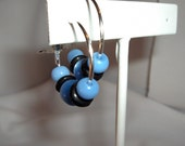 Black and Blue Cat's Eye Hoops