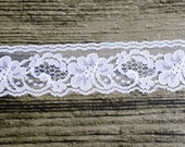 White Flat Lace Trim - 10 yards - 2 inches wide