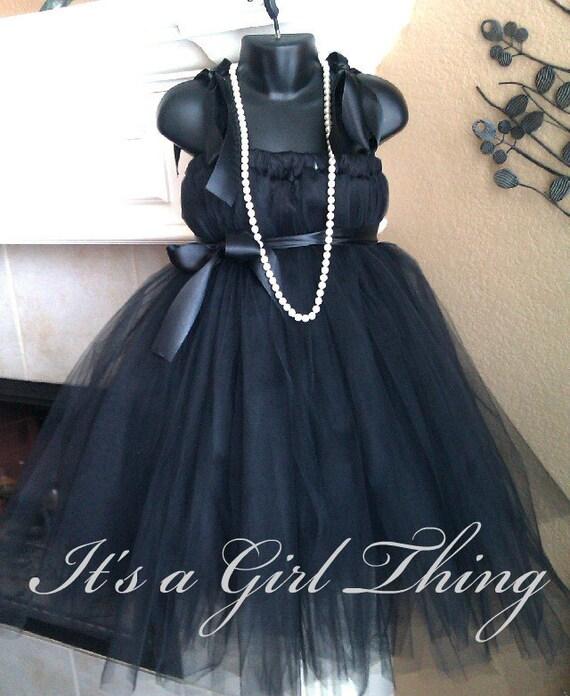 Black Tutu Dress - Size 2T-4T