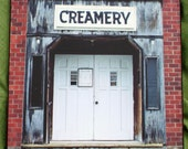 Old Brick Creamery in Iowa - 11 x 14 Wooden Print Photograph - Free US Shipping