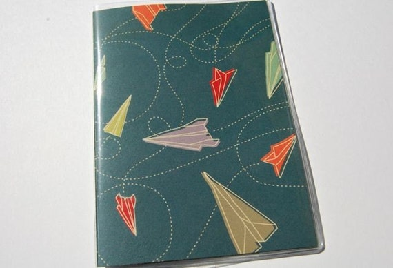 PASSPORT COVER - Paper Airplanes on Blue