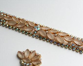 Vintage 1960s Stunning Glass Rhinestone Bracelet