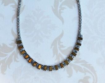 1960s Glass Rhinestone Necklace
