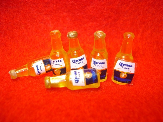 6 Corona Extra Mini Bottles Corona Beer for any Collection or Project
