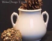 J G Meakin Ironstone China Eared Sugar Dish  Urn   Pot