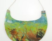 Ritual Disk- Couture Line- Necklace Made of Paint