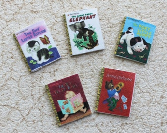Miniature Golden Books Set Two in Dollhouse 1:12 scale