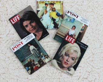 Miniature Magazines Life and Post 50s and 60s One Twelfth Scale