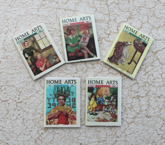 Miniature Dollhouse Magazines 1930s Home Arts In 1:12 Scale