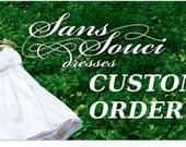 CUSTOM ORDER Wedding dress for stephyginger - Deposit